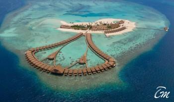 Cinnamon Velifushi Maldives Island Arial View
