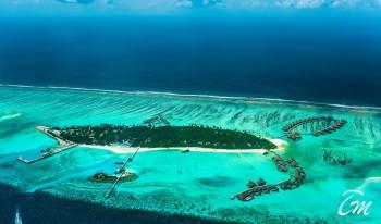 Como Maalifushi Maldives Aerial View