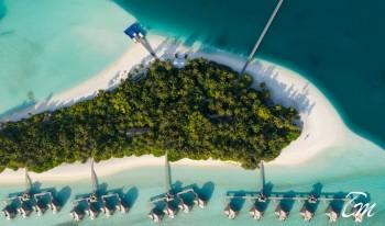 Conrad Maldives Rangali Island Aerial Hero View