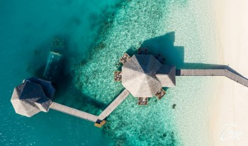 Conrad Maldives Rangali Island Restaurants Aerial View