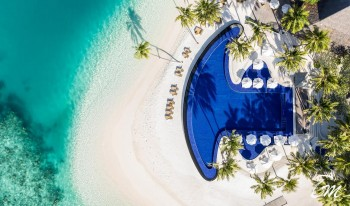 Conrad Maldives Rangali Island Main Pool Aerial View