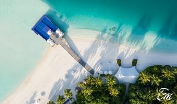 Conrad Maldives Rangali Island Quite Zone Aerial View