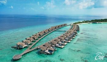 Fairmont Maldives - Sirru Fen Fushi - Water villas Aerial view