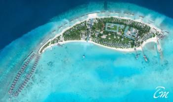 Fairmont Maldives - Sirru Fen Fushi - Island Aerial Shot