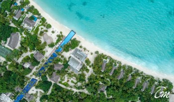 Fairmont Maldives - Sirru Fen Fushi - Beach and Pool Aerial Shot