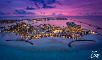 Hard Rock Hotel Maldives Aerial View