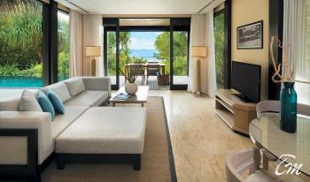 Outrigger Maldives resort 2 bed beach pool villa