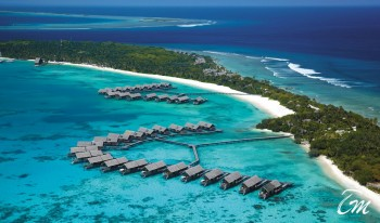 Shangri-Las Villingili Resort and Spa - Maldives Beach Areal View