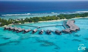 Shangri-Las Villingili Resort and Spa - Maldives Water villas Areal View