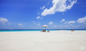 Six Senses Laamu Maldives Sandbank Sun Bathing