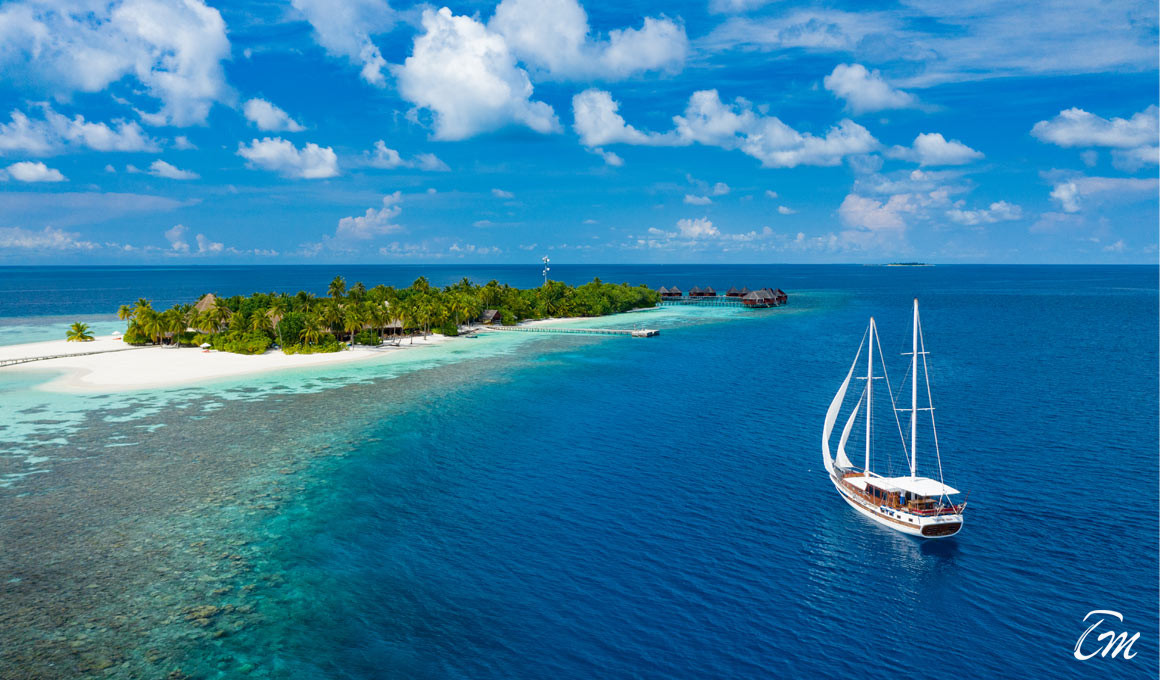 Mirihi Island Resort Aerial