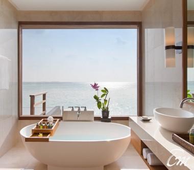 Anantara Veli Maldives Resort Deluxe Over Water Pool Bungalow Bathroom