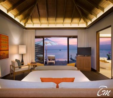 Anantara Veli Maldives Resort Deluxe Over Water Pool Bungalow Bedroom