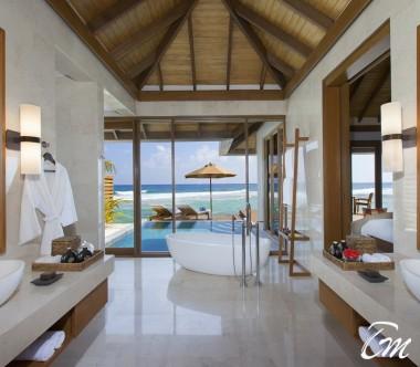 Anantara Veli Maldives Resort Ocean Pool Bungalow Bathroom