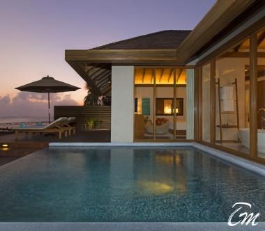 Anantara Veli Maldives Resort Ocean Pool Bungalow Exterior