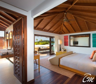 Anantara Veli Maldives Resort Over Water Bungalow Interior