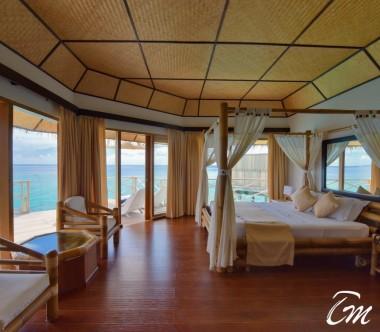 Angaga Island Resort Superior Water Bungalow  Ocean Face