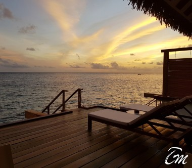 Luxury Sunset Water Bungalow Jacuzzi  Velifushi Cinnamon Maldives