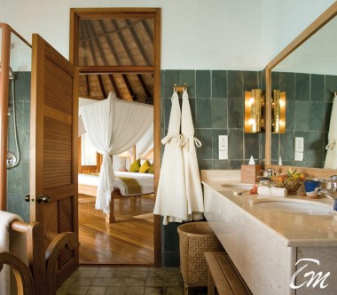 Coco Palm Dhuni Kolhu Maldives Sunset Lagoon Villa Bathroom