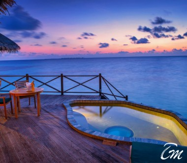 Coco Palm Dhuni Kolhu Maldives Sunset Lagoon Villa Deck