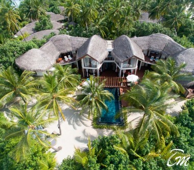 Constance Halaveli Maldives Presidential Villa Aerial View