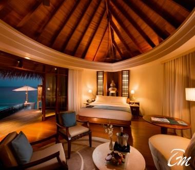 Constance Halaveli Maldives Water Villas Interior