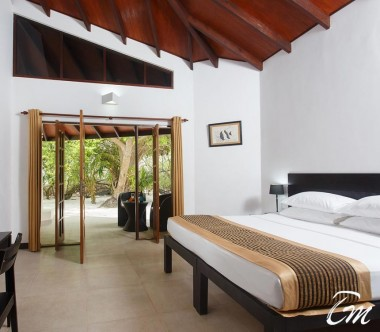 Embudu Village Maldives Resort Superior Beach Bungalow Interior