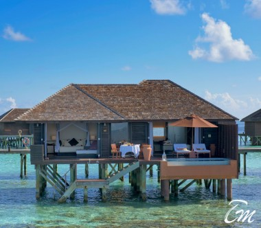 Lily Beach Resort and Spa at Huvahendhoo Maldives Deluxe Water Villa Exterior