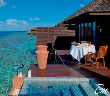 Lily Beach Resort and Spa at Huvahendhoo Maldives Deluxe Water Villa - Ocean View