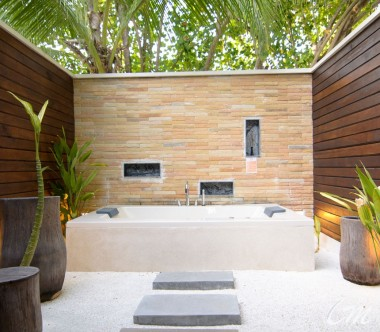 Lagoon Villa Bathtub - Lily Beach Resort and Spa Maldives
