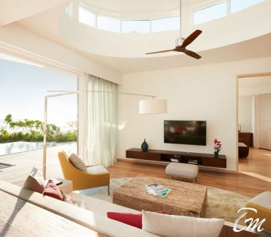 LUX* North Male Atoll Beach Residence Living Area