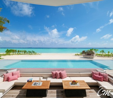 LUX* North Male Atoll Beach Villa Deck