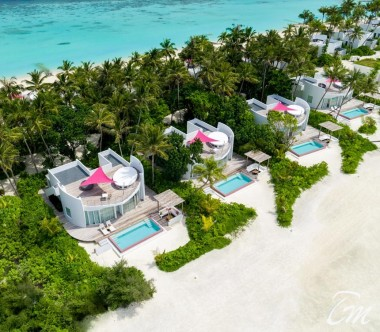 LUX* North Male Atoll Beach Villa Exterior Aerial View