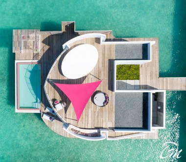 LUX* North Male Atoll Water Villa Aerial View
