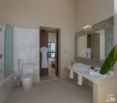 Malahini Kuda Bandos Resort Beach Villa Bathroom