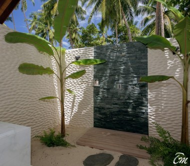 Malahini Kuda Bandos Resort Beach Villa Outdoor Shower