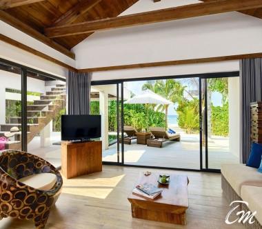 Mövenpick Resort Kuredhivaru Maldives Beach Pool Suite Interior