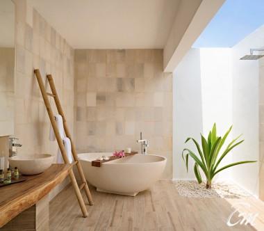 Mövenpick Resort Kuredhivaru Maldives Beach Pool Suite Sunset Bathroom