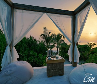 Mövenpick Resort Kuredhivaru Maldives Beach Pool Suite Sunset