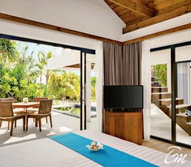Mövenpick Resort Kuredhivaru Maldives Beach Pool Suite Sunset Exterior
