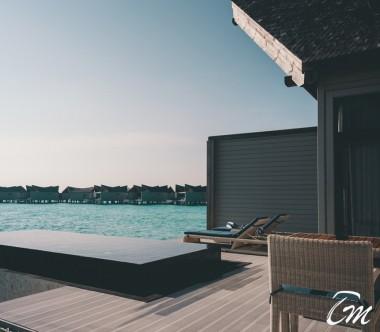 Mövenpick Resort Kuredhivaru Maldives Overwater Pool Villa Lagoon Deck