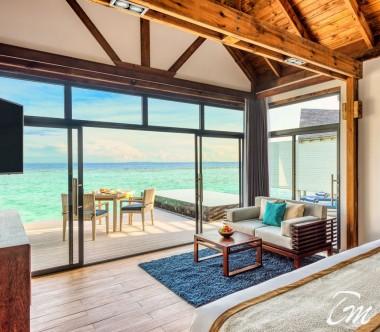 Mövenpick Resort Kuredhivaru Maldives Overwater Pool Villa Sunrise Ocean Interior