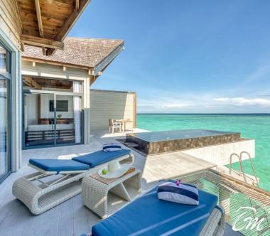 Mövenpick Resort Kuredhivaru Maldives Overwater Villa Sunrise Ocean Deck
