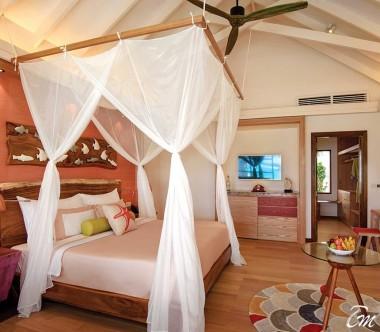 OBLU SELECT at Sangeli Maldives Beach Villa Bed Room Inward View