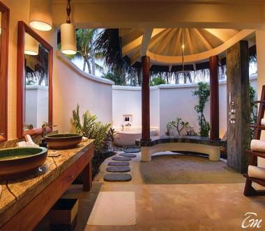 OBLU SELECT at Sangeli Maldives Deluxe Beach Pool Villa Bath Room Full View
