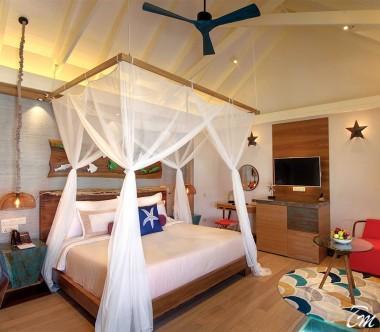 OBLU SELECT at Sangeli Maldives Water Villa Bed Room Inward View