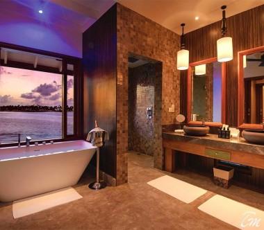 OBLU SELECT at Sangeli Maldives Deluxe Overwater Pool Villa Bath Room View