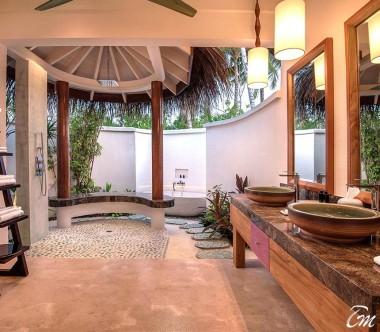 OBLU SELECT at Sangeli Maldives 2 Bedroom Beach Pool Suite Main Bath Room Interior