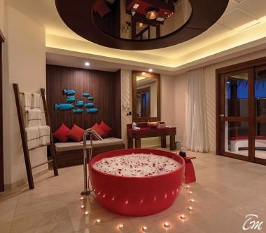 OBLU SELECT at Sangeli Maldives Honeymoon SELECT Ocean Villa Bathroom