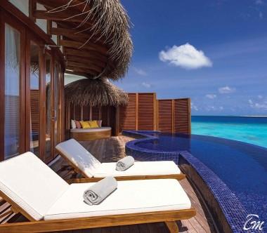 OBLU SELECT at Sangeli Maldives Honeymoon SELECT Ocean Villa Deck and Pool